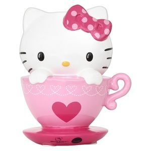 Hello Kitty in Teacup Ceramic Coin Bank By Sanrio